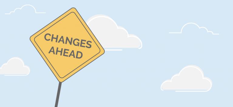 Change Log Roadsign Changes Ahead